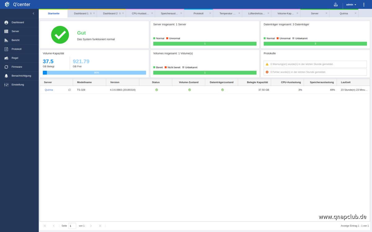 Screenshot von Q'Center Version 1.8.3002 - 01