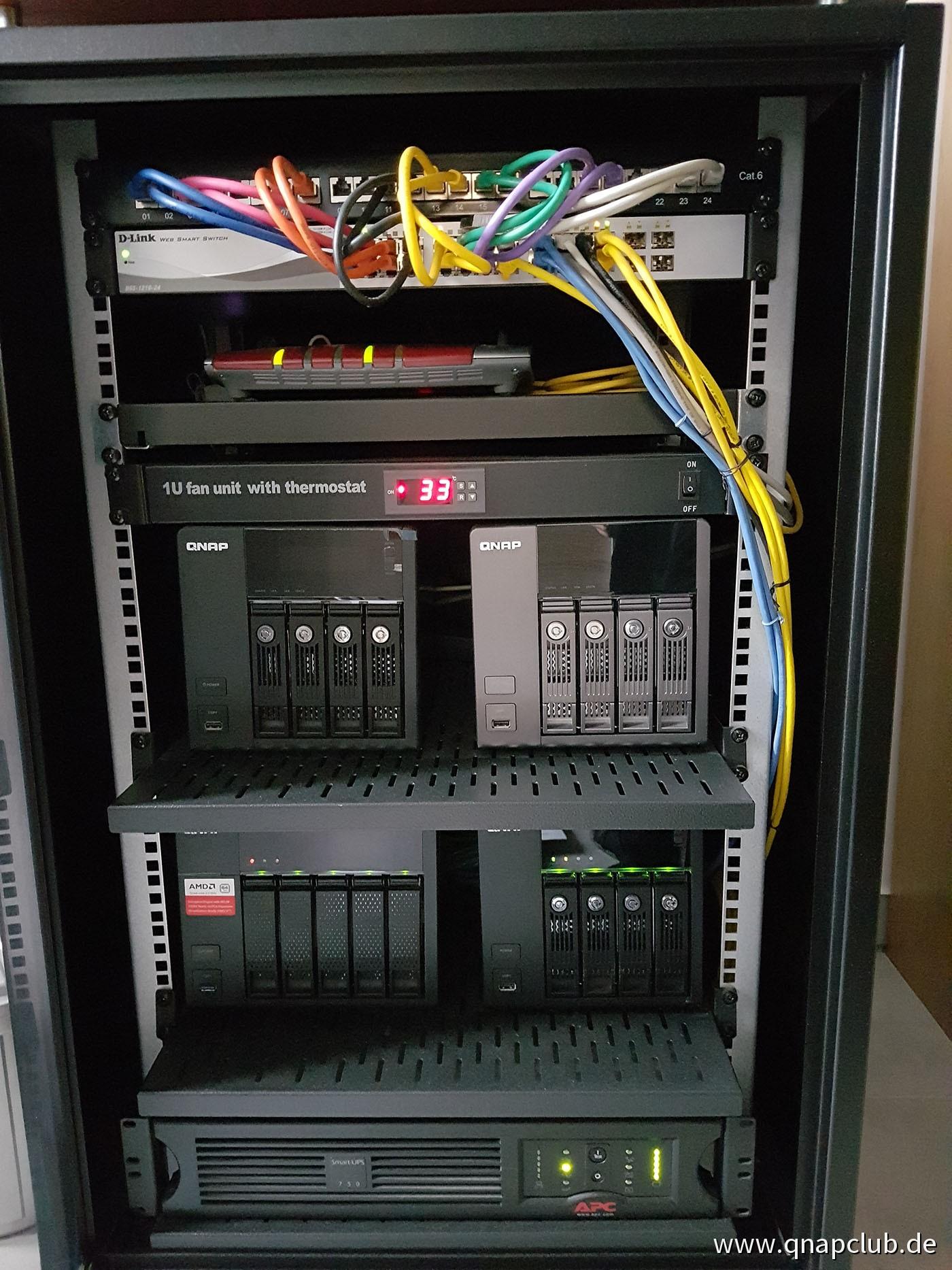 Meine Serverschränke - NAS Hilfe und Support Forum