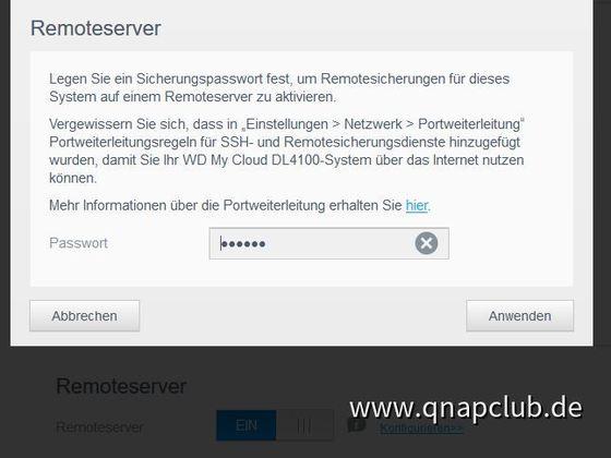 02 - Passwort für Remote Server