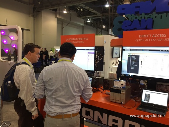 QNAP CES Messe 2017 in Las Vegas