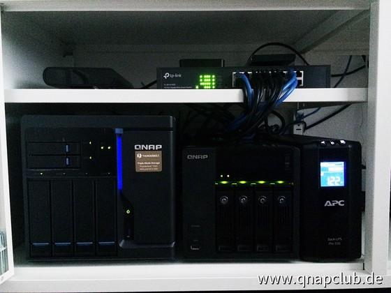 TVS-682T, TS-439 Pro II+, paar externe HDDs und TPLINK-switch