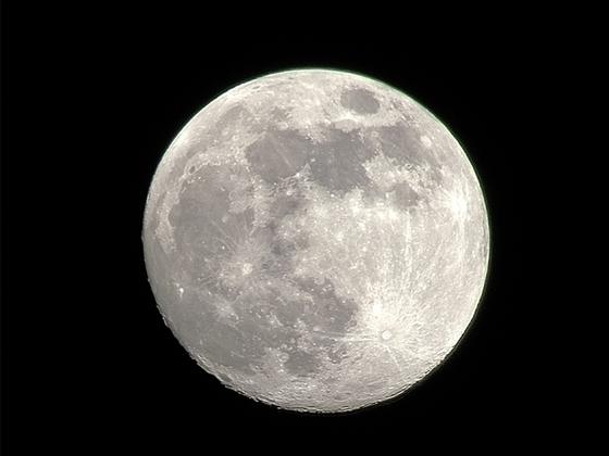 Mond ohne Teleskop
