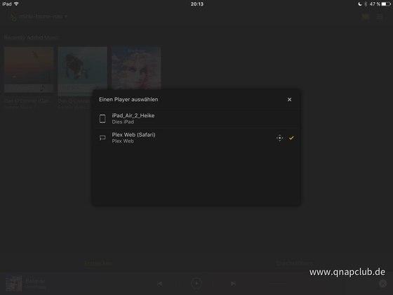 Plex App Playerauswahl