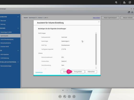 5 - Speichermanager - Assistent für Volumen Erstellung